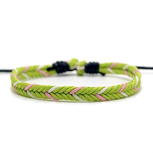 10pcs Wholesale Fashion Ethnic Style Woven Leather Bracelet with Adjustable Length Handmade Chic Girls Friendship Bracelet for Women