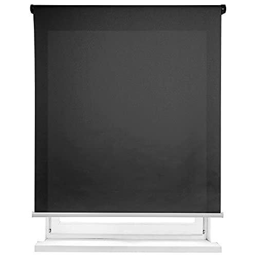 MERCURY TEXTIL-Estor Enrollable translúcido Liso (Negro, 150x180cm)