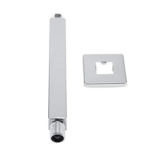 Braccio doccia a parete in acciaio inox quadrato Top dritto doccia braccio di prolunga per bagno Accessori per soffione doccia a soffitto(20 cm)