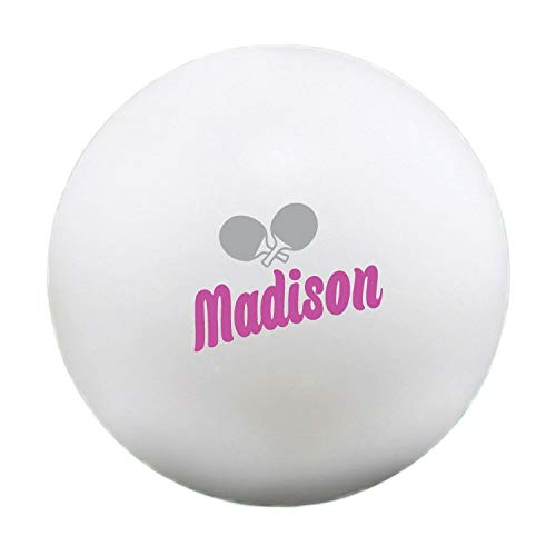 Review Of Infusion Custom Paddles Pink Design Design Ping Pong Balls, 12 White Table Tennis Balls