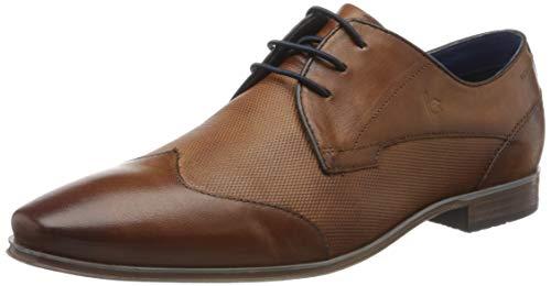 Bugatti 3114201c3500, Zapatos de Cordones Derby para Hombre, Marrón (Cognac 6300), 46 EU