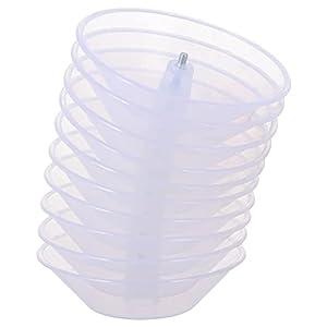 OSALADI 10 PIÈCES en Plastique Hotte Tasse D' Huile Huile De Rechange Collecte Tasse D' Huile Attraper Bol Rond Huile Catcher pour La Maison Cuisine