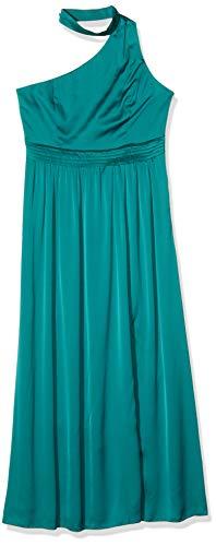 Little Mistress Anja Kingfisher Asymmetric Halter Maxi Dress Vestido Fiesta Mujer