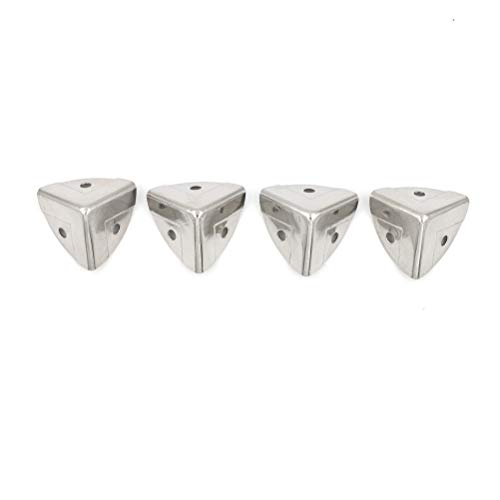 4 unids decorativo antiguo estilo plata caja de metal protección joyería vino caja caja de madera caja de madera protector de esquina 26 mm YUAN CHUANG