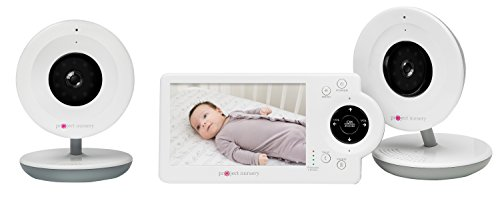 4.3' LCD Baby Monitor System w/Two Digital Zoom Cameras - Features Audio, Video and Built-in Monitor...