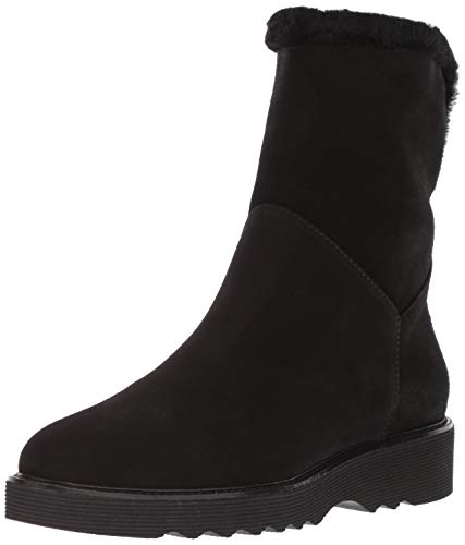 Aquatalia Women's Kaitlyn Textured Suede Ankle Boot, black, 8 M US