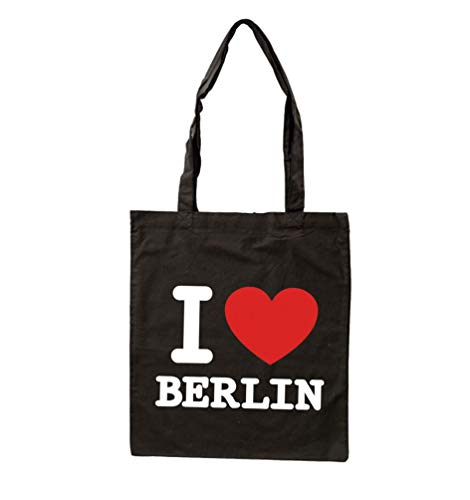 Trage-Tasche I Love Berlin   Jute-Beutel Einkaufstasche   schwarz   Baumwolle   Geschenk & Souvenir