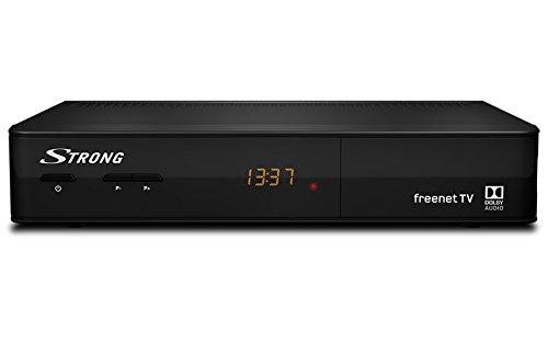 STRONG SRT 8540 digitaler terrestrischer HD Receiver - DVBT2 - geeignet für freenet TV - Irdeto - EPG - schwarz