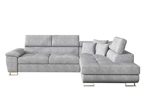 Mirjan24 Ecksofa Eckcouch Cotere, Sofa Couch mit Schlaffunktion und Bettkasten L-Sofa Farbauswahl Wohnlandschaft vom Hersteller (Alfa 17, Seite: Rechts)