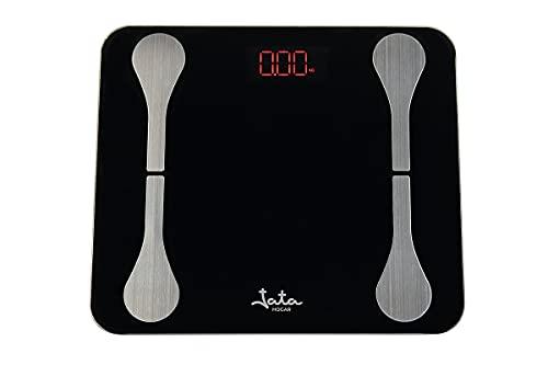 Jata Hogar HBAS1502 - Analizador corporal con 7 funciones. Funciona con Bluetooth. Memoria para 8 personas.