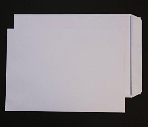 250 Stück Versandtaschen B4 ohne Fenster weiß Haftklebend 250x353 mm HK Briefumschläge Kuvert