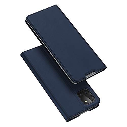 DUX DUCIS Hülle für Samsung Galaxy Note 10 Lite, Leder Flip Handyhülle Schutzhülle Tasche Hülle mit [Kartenfach] [Standfunktion] für Samsung Galaxy Note 10 Lite (Blau)