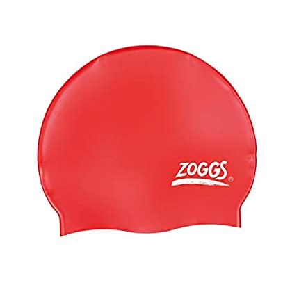 Zoggs Gorro de natación, Adultos Unisex, Rojo, una Talla