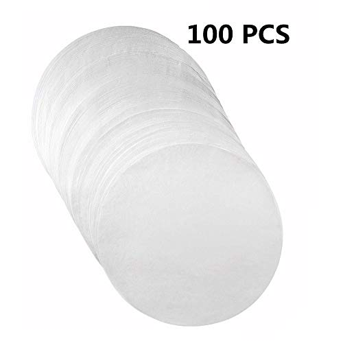 Set of 100 NonStick Round Parchment Paper 7 inch  100 EcoFriendly Pack  Baking Paper Liners for Round Cake Pans Circle Cheesecake Cooking Air Fryer