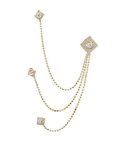 Peora Gold Plated Stylish Wedding Designer Brooch for Men Indian Traditional Ethnic Wedding Groom Jewellery