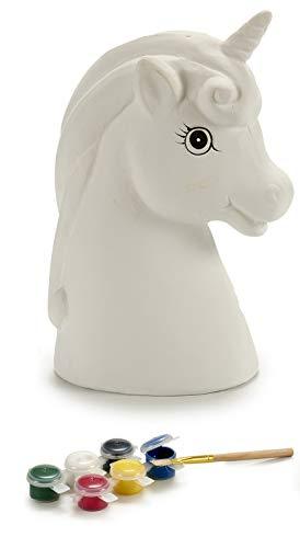 Ar Hucha Unicornio para Pintar, en Caja Acetato, con 6 Colores y un Pincel, 1 Unidad