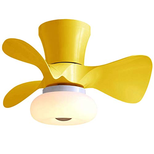 Ceiling fan lamp with distant management white/black/yellow/wooden shade/blue ceiling fan with lamp bed room eating fan