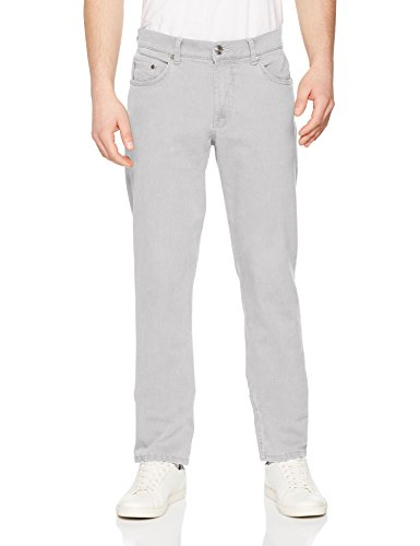 BRAX Cooper Coloured Denim Hose: Regular Fit Herrenhose aus hochwertigem Baumwoll-Mix, mit Stretchkomfort, Stone Washed, optimale Passform, 34W / 32L Grau (Light Grey 06)