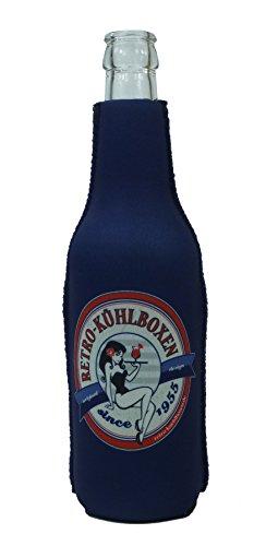 1023144 - Neopren Flaschenkühler Retro-Kuehlboxen.de Blau