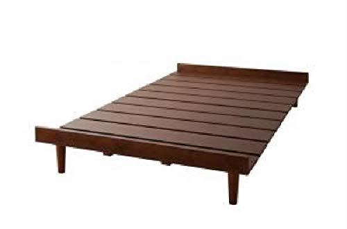 シングルベッド 茶 すのこ 蒸れにくく 通気性が良い ベッド用ベッドフレームのみ 単品 北欧風デザイン ベッド(幅 :シングル)(奥行 :レギュラー)(フレーム色 : ダークブラウン 茶)