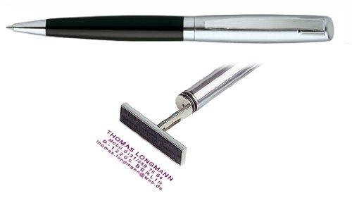 Stempelkugelschreiber Heri Classic Light schwarz/silber vom Kaufhaus2010