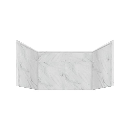 """Transolid X3662-91 X3662-91 36"""" x 36"""" Shower Wall Extension Panels in White Carrara"""