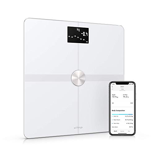 Withings / Nokia | Body+ - Smart Body Composition Wi-Fi Digital Scale with smartphone app, White (Renewed)