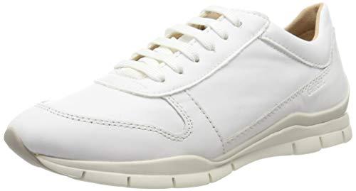 Geox Damen D Sukie C Sneaker, Weiß (White C1001), 40 EU