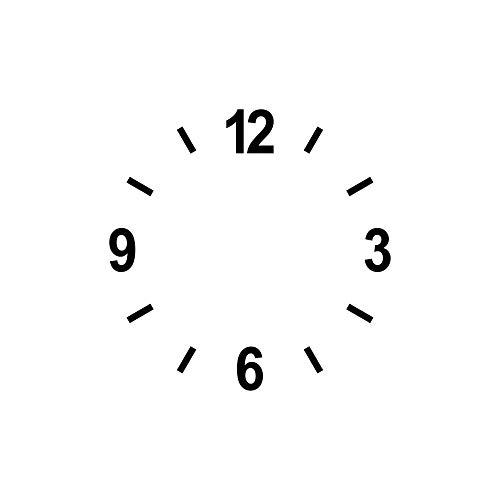 Ziffern Zahlen 4cm + Striche schwarz Tattoo Aufkleber Deko Folie Uhr Besteln Zifferblatt