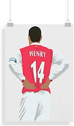 Thierry Henry Print Arsenal Soccer Poster product image