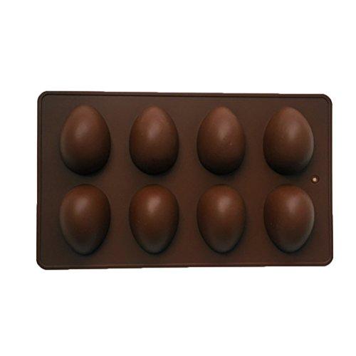 BESTOYARD Osterbackform Silikon Schokoladenform Ei Backform Kuchenform Gelegentliche Farbe
