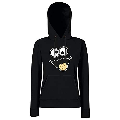 Shirt-Panda Keks Monster Damen Hoodie Gruppen Kostüm Karneval Fasching Verkleidung Party JGA Schwarz XXL