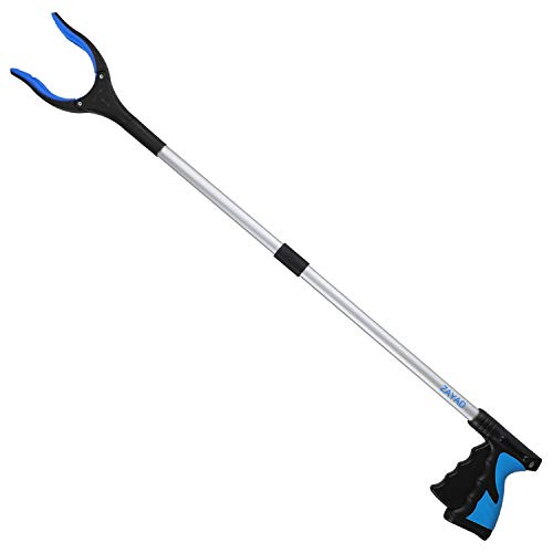 Reacher Grabber Tool, 32' Foldable Grabber Reacher for Elderly, Lightweight Extra Long Handy Trash Claw Grabber, Reaching Assist Tool for Trash Pick Up, Nabber, Litter Picker, Arm Extension