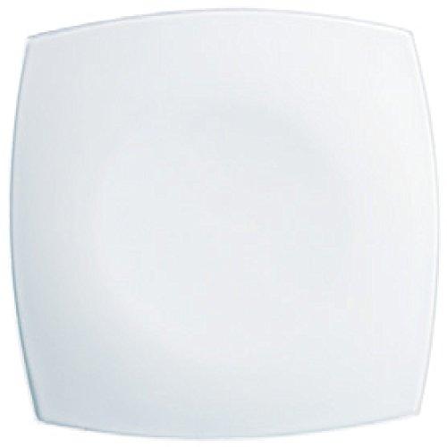 Luminarc H3658- Plato Cuadrado Postre, Blanco, 19 cm, 1 unidad