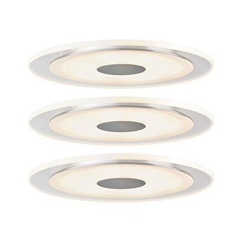 Paulmann 925.43 Premium EBL Set Whirl rund LED 3x6W 18VA 150mm Alu gedreht/Satin 92543 Spot Einbaustrahler Einbauleuchte