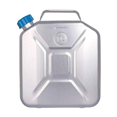 FACAIA 10L Medio Ambiente Aluminio Metal Aceite Tanque de Combustible Gasolina Diesel Lata Gruesa Tanque de Agua Celda de Almacenamiento Protable Motocicleta Camión Coche (Color: 10L)