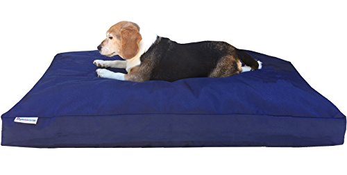 Dogbed4less Extra Large Memory Foam Dog Bed Pillow with Orthopedic Comfort + Waterproof Liner and Durable Pet Bed Denim Cover 47'X29', Brown