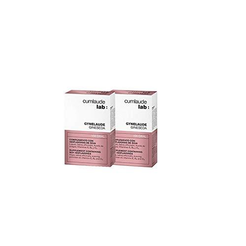 Cumlaude Gineseda - Complemento Alimenticio para Aliviar los Síntomas de la Menopausia - con Isoflavonas de Soja - 2 Unidades x 30 Cápsulas
