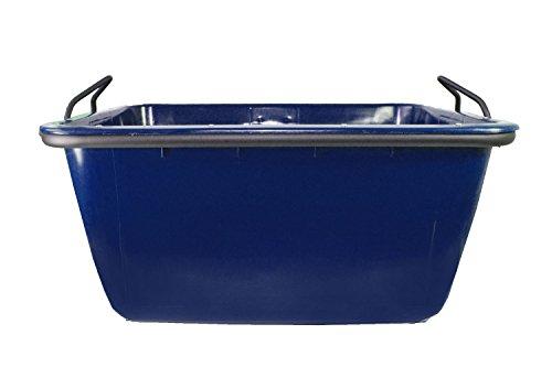 UvV-FMK Fertigmörtelkübel, Mörtelwanne 200 Liter, kranbar, TüV geprüft (Blau)