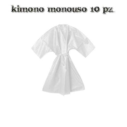 Kimono Monouso Bianco Estetista Parrucchiere In Tnt 10 Pz