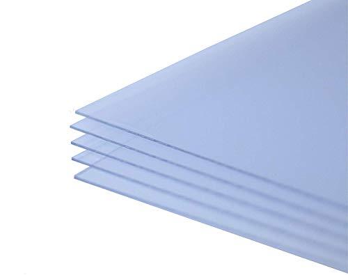 US Art Sheets 4x6 Inches .040 PETG, Clear Styrene/Plexiglass - Set of 10