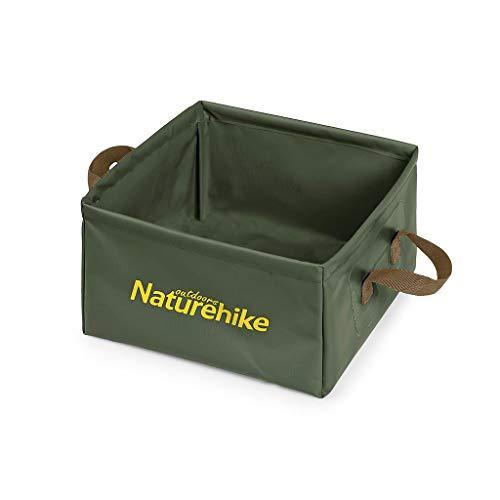 Naturehike 布バケツ 屋外用折りたたみバケツ アウトドア用携帯軽量化 折り畳み式洗面器 水の入れ物 小物入れ 洗いおけ (緑)