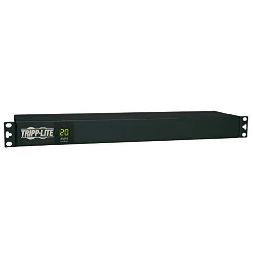 Tripp Lite Metered PDU, 20A, 12 Outlets (5-15/20R), 120V, L5-20P / 5-20P, 110-127V Input, 15 ft. Cord, 1U Rack-Mount Power, 2 Year Warranty (PDUMH20) black