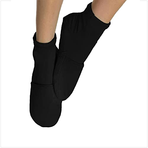 NatraCure Cold Therapy Socks - Reusable Gel Ice Frozen Slippers for Feet, Heels, Swelling, Edema, Arch, Chemotherapy, Arthritis, Neuropathy, Plantar Fasciitis, Post Partum Foot, - Size: Large