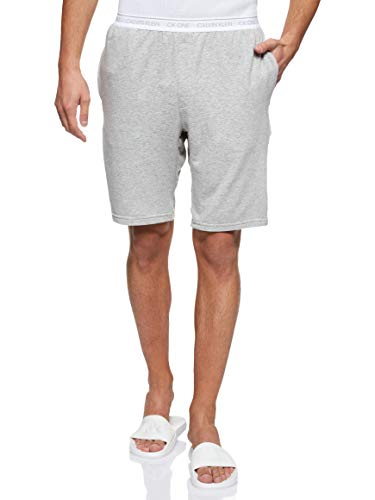 Calvin Klein Herren Sleep Short Schlafanzughose, Grau (Grey Heather 080), X-Large