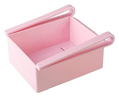 HXR Refrigerador Cajones de Almacenamiento Refrigerador Organizador Cajón Canasta Frigorífico Organizador Espacio Ahorro Piezas y Accesorios de frigoríficos (Color : Pink)