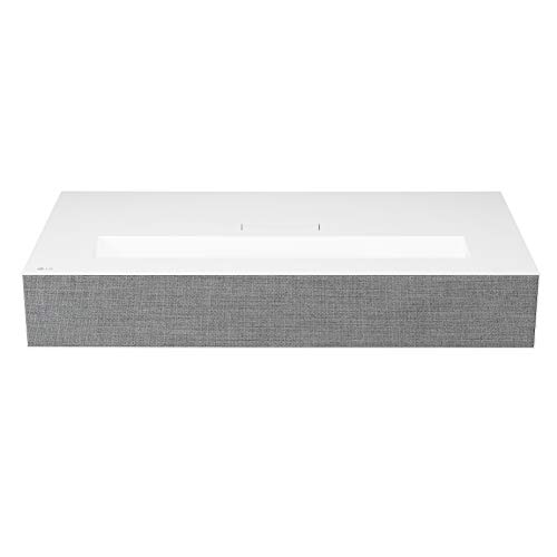 LG HU85LA Ultra Short Throw 4K UHD Laser Smart Home Theater Cinebeam Projector with Alexa built-in, LG Thinq AI, the Google Assistant and LG webOS Lite Smart TV (Netflix, Amazon Prime and VUDU)