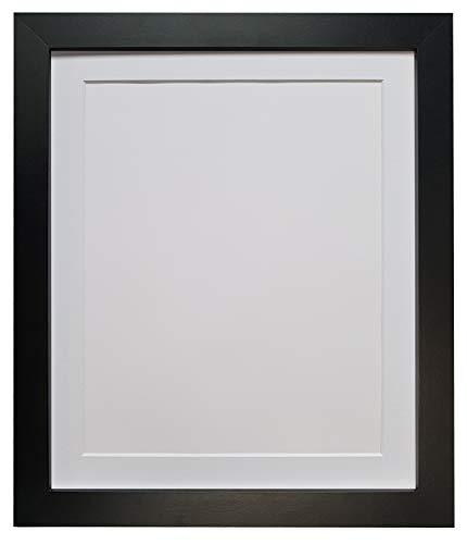 FRAMES BY POST H7 - Marco para Foto o lámina, Negro, 25 mm de Ancho, con paspartú Blanco, 36 x 24 Pulgadas, para lámina tamaño 30 x 20 Pulgadas, con Cristal de plástico