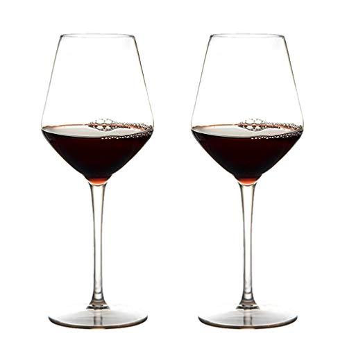 Michley Infrangibile Tritan Calici da Vino Rosso Plastica Dura, Bicchiere Vino da Campeggio da Viaggio BPA-Libera, 440 Ml (15 Oz) Set di 2