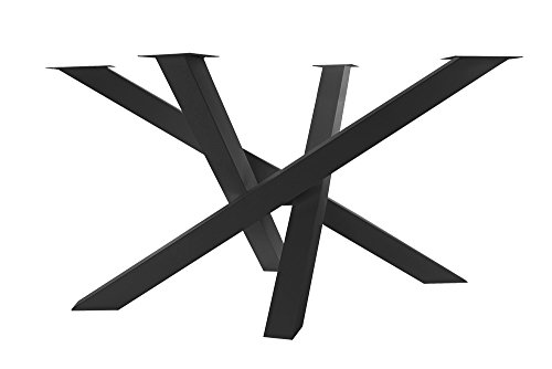 KTC Tec MI-KADO - Estructura en cruz para mesa de cocina (estructura en X de una pieza), color negro mate